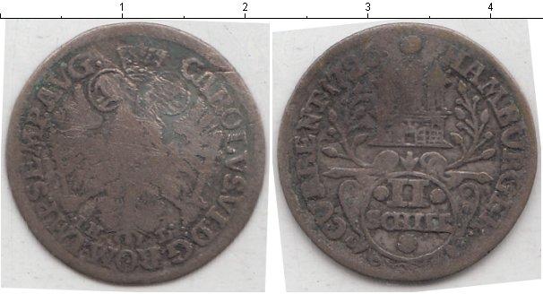 Картинка Монеты Гамбург 2 шиллинга Серебро 1726