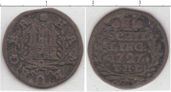 Картинка Монеты Гамбург 1 шиллинг Серебро 1727