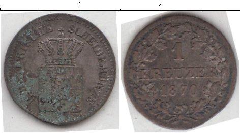 Картинка Монеты Бавария 1 крейцер Серебро 1870