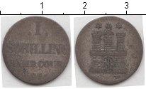 Изображение Монеты Гамбург 1 шиллинг 1855 Серебро