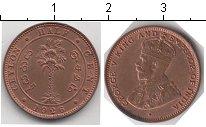 Изображение Мелочь Цейлон 1/2 цента 1926 Медь UNC- Георг V