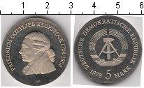 Изображение Монеты ГДР 5 марок 1978 Медно-никель Proof- Фридрих Клопсток