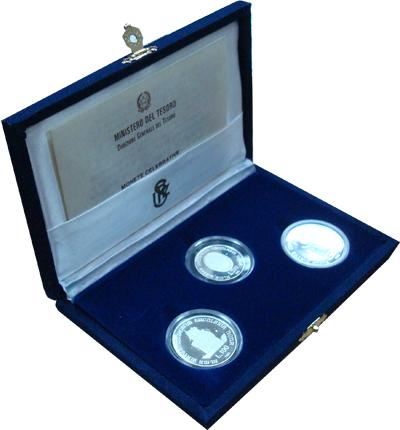 Изображение Подарочные монеты Италия Болонский Университет 1988 Серебро Proof