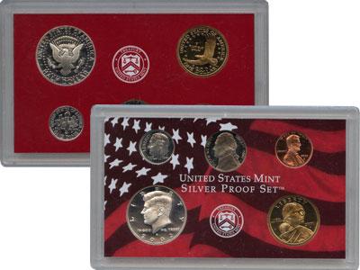 Изображение Подарочные монеты США Набор монет 2002 года в качетсве пруф 2002  Proof