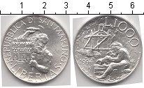 Изображение Монеты Сан-Марино 1000 лир 1994 Серебро UNC-