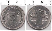 Изображение Мелочь Колумбия 5 песо 1971 Медно-никель UNC-