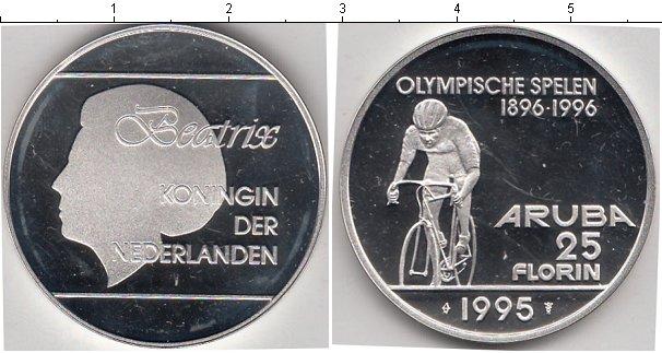 Картинка Монеты Аруба 25 флорин Серебро 1995
