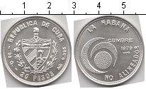 Монета Куба 20 песо Серебро 1979 UNC- фото