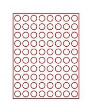 Изображение Аксессуары для монет Круглые ячейки Lindner (Германия) Планшет с 80 круглыми ячейками для монет размером до 23,5 мм (2708) 0