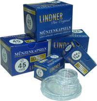 Изображение Аксессуары для монет Капсулы для монет Капсулы для монет LINDNER 15 мм 0   Капсулы для монет 15