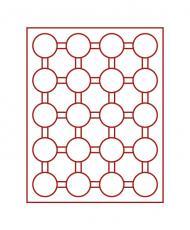 Изображение Аксессуары для монет Круглые ячейки Leuchtturm (Германия) Планшет на 20 круглых ячеек - Ø капсул 41мм (№312454) 0