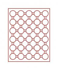 Изображение Аксессуары для монет Круглые ячейки Leuchtturm (Германия) Планшет на 30 круглых ячеек - Ø капсулы 31мм (№307910) 0   ST05H! Описание: