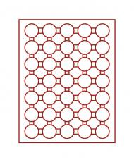 Изображение Аксессуары для монет Круглые ячейки Lindner (Германия) Планшет c 35 круглыми ячейками для капсул с внешним диаметром 36 мм (2625) 0   Монетные боксы с кру