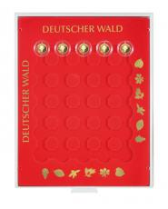 """Изображение Аксессуары для монет Круглые ячейки Lindner (Германия) Планшет для монет """"Лес Германии"""" (S2228) 0"""