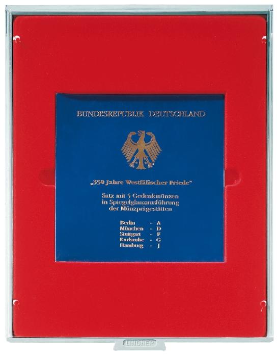 Картинка Аксессуары для монет Квадратные ячейки Lindner (Германия) Планшет с одной квадратной ячейкой размером 150 х 150 мм (2611)  0
