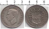 Изображение Мелочь Новая Зеландия 1/2 кроны 1941 Серебро VF Георг VI.