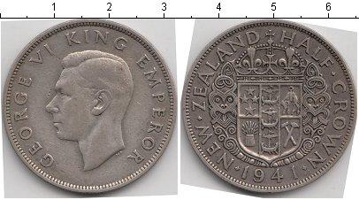 Картинка Мелочь Новая Зеландия 1/2 кроны Серебро 1941