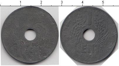 Картинка Мелочь Индокитай 1 цент Цинк 0