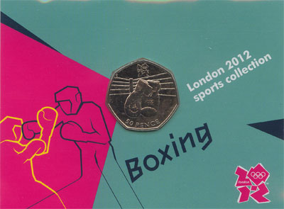 Изображение Подарочные монеты Великобритания 50 пенсов 2011 Медно-никель UNC Подарочный набор Лон