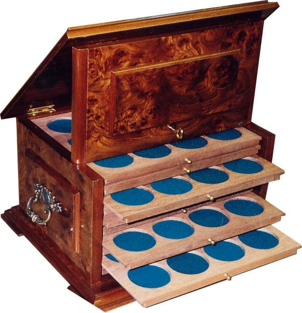 Картинка Аксессуары для монет Кабинеты для монет Мюнцкабинет-ларец  0