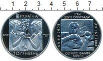 Изображение Монеты Україна 10 гривен 2003 Серебро Proof- Олимпийские игры. Бо