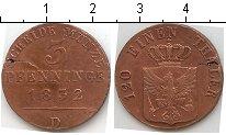 Изображение Монеты Пруссия 3 пфеннига 1832 Медь  D