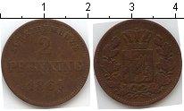 Изображение Монеты Пруссия 2 пфеннига 1861 Медь