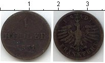 Изображение Монеты Франфуркт 1 геллер 1851 Медь