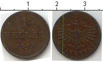 Изображение Монеты Франфуркт 1 геллер 1849 Медь