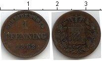 Изображение Монеты Германия Бавария 1 пфенниг 1862 Медь
