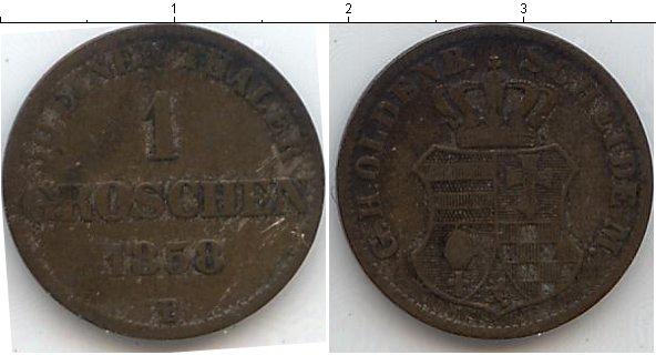 Картинка Монеты Ольденбург 1 грош Серебро 1858