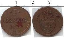 Изображение Монеты Германия Гессен-Дармштадт 1 пфенниг 1819 Медь XF