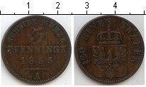 Изображение Монеты Пруссия 3 пфеннига 1855 Медь