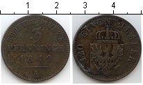 Изображение Монеты Пруссия 3 пфеннига 1849 Медь  А