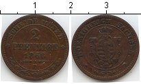 Изображение Монеты Саксен-Альтенбург 2 пфеннига 1866 Медь VF