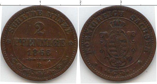 Картинка Монеты Саксен-Альтенбург 2 пфеннига Медь 1866