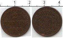 Изображение Монеты Бавария 2 пфеннига 1864 Медь