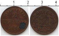 Изображение Монеты Бавария 2 пфеннига 1860 Медь