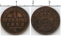 Изображение Монеты Пруссия 1 пфенниг 1850 Медь  А