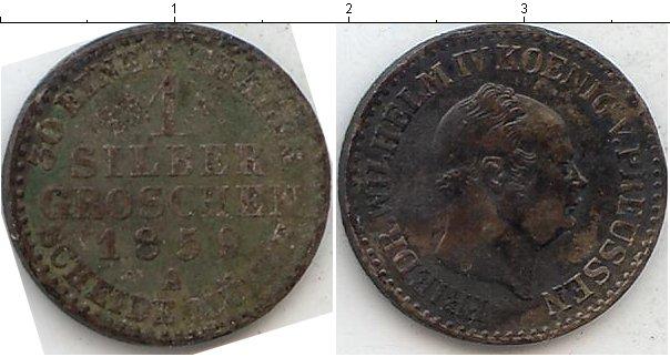 Картинка Монеты Пруссия 1 грош Серебро 1859