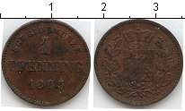 Изображение Монеты Бавария 1 пфенниг 1865 Медь