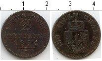Изображение Монеты Пруссия 2 пфеннига 1854 Медь VF