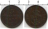 Изображение Монеты Пруссия 3 пфеннига 1871 Медь VF А