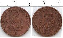 Изображение Монеты Пруссия 2 пфеннига 1864 Медь XF А