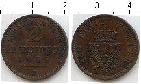 Изображение Монеты Германия Пруссия 2 пфеннига 1869 Медь XF