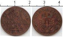 Изображение Монеты Пруссия 2 пфеннига 1855 Медь VF