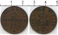 Изображение Монеты Пруссия 3 пфеннига 1867 Медь XF А
