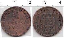 Изображение Монеты Пруссия 2 пфеннига 1853 Медь VF