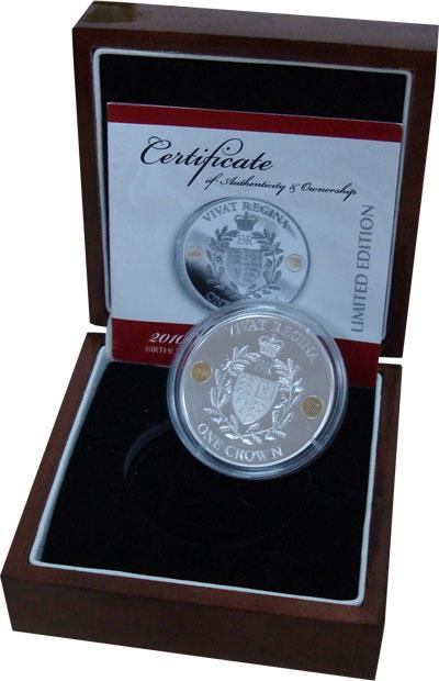 Изображение Подарочные монеты Тристан-да-Кунья 1 крона 2010 Серебро Proof `Подарочный набор по