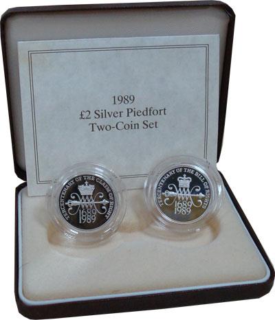 Изображение Подарочные монеты Великобритания Декларация Прав в Великобритании 1989 Серебро Proof Не пифорт!!! Подароч